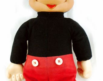 Vintage Mickey Mouse walking doll Walt Disney
