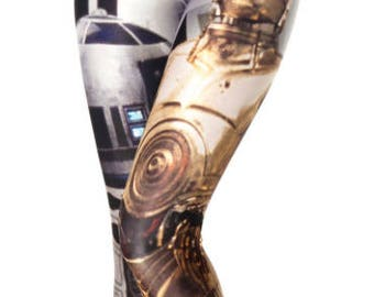 Star Wars R2D2 and C3PO Leggings