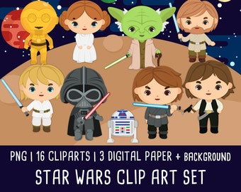 Space wars Clipart, Space Wars clip art, space character clipart, space party, Instant Download PNG 300 - Free commercial use