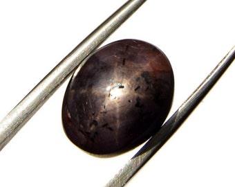 Purple Star Sapphire Oval Cabochon Stone (11mm x 9mm x 8mm) 10.5cts