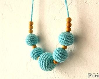 Nursing collar, turquoise hook wear