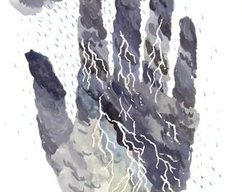 Storm Hand Print