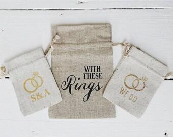 Wedding Ring Bag 7x10