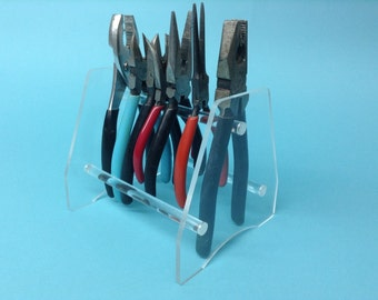Plier Holder/Stand Clear Acrylic Design