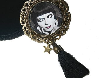 Bronze brooch cabochon 25mm LOUISE BROOKS