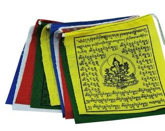 Hands of Tibet Mini Green Tara Prayer Flags - set of 10