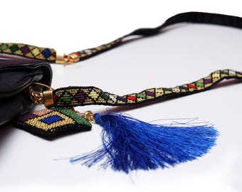 Embroidered bag strap
