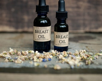 Breast oil - lymph oil - lymphatic oil - breast massage oil - massage oil - herbal massage oil