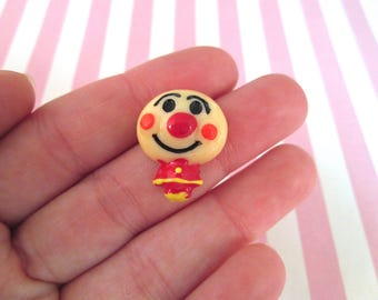 Red Resin Clown Cabochons #1039