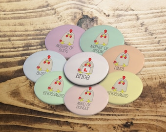 Hen party badges, Custom hen party badges, Hen party favours, Personalised Hen party,Modern hen do badges, Bride to be, Hen weekend