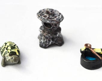 Resin Stone Tortoise Well Water Miniature Garden Plants Terrarium Doll House Ornament Fairy Decoration az6284