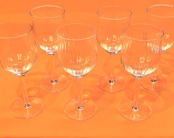 Vintage Bormioli Canaletto Wine Glasses - 6 - Stemware