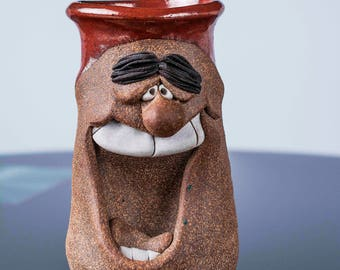Mark Hines Funny Face Stein