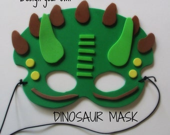 Dinosaur Foam Mask, DIY Party Craft, Party Supplies