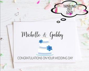 Personalized Wedding Card. Congratulations. Engagement Card. Congratulations on your wedding. Funny Engagement Card. Custom Card. Wedding.