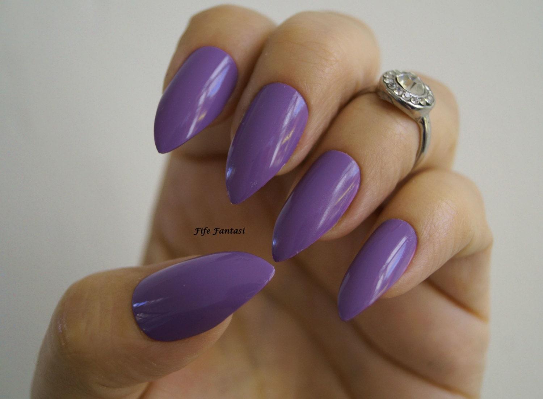 Purple stiletto nails Nail art Nail designs Kylie Jenner