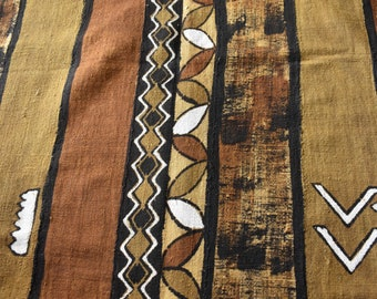Mali mud cloth , Antique Bronze , African mud cloth , Mud cloth fabric , Bogolan fabric , African cloth , Hand woven  MC146