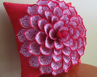 Decorative Pillow Flower Pillow Pattern SOPHIA FLOWER Felt Flower Pattern with 2 Bonus Pillow Cover Patterns Tutorial PDF ePattern How To
