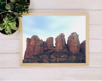PRINTABLE ART, 8x10, Red Rocks in Sedona, Landscape Photography, Southwest Wall Art, Instant Download, Digital Print,Home Decor,