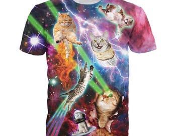 UFO Fart Space Kitten Cat Kitten 3D Printed T Shirt