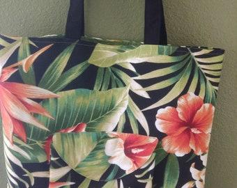 Fabric bag - Handmade bag - Beach bag - Tote bag - Large shoulder bag