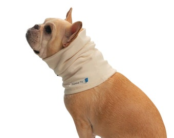 Natural - Organic Cotton Neck Cozy / Neck Protector- Dog Tshirt for Sensitive Skin