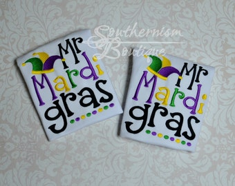 Mardi Gras Shirt, Boys Mardi Gras Shirt, Baby Mardi Gras Shirt, Fat Tuesday Shirt, Mardi Gras, Personalized, embroidered, mardi gras outfit