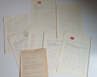 Vintage Book Pages- Typing/Shorthand