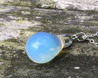Crystal Opal Sterling Silver Necklace