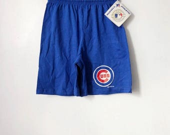 vintage chicago cubs russell athletic shorts youth size medium deadstock NWT 90s made in USA