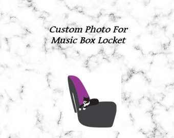 Personalized Photo, Add on Listing for Music Box Locket, Must be Purchased with Music Box Listing