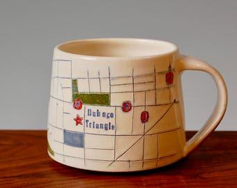 Duboce Triangle - San Francisco Map Mug