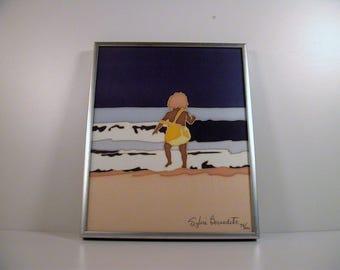 Sylvie Bernadette Silkscreen, Framed Original Silkscreen