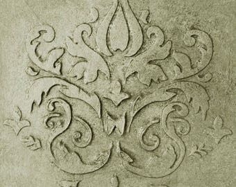 Stencil, Wall Stencil, Plaster Stencil, Furniture Stencil, Chadwurth Damask