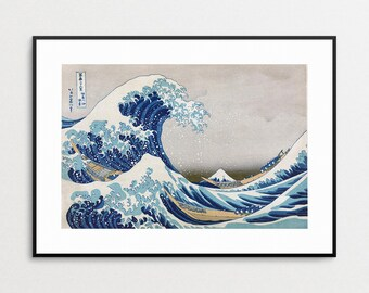 The Great Wave off Kanagawa Print - Hokusai Great Wave - Japanese Art - Asian Decor - Japanese Woodblock Print - Famous Art Prints - Waves