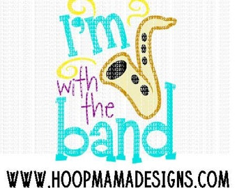 I'm With The Band SVG DXF EPS and png Files for Cutting Machines Cameo or Cricut