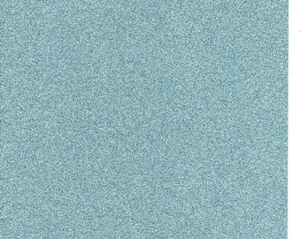Sea Breeze Blue Glitter Card A4 soft touch low shed 1 sheet