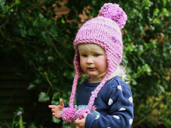 Knitting Pattern Earflap Hat Pattern Pom Pom Hat Baby Hat