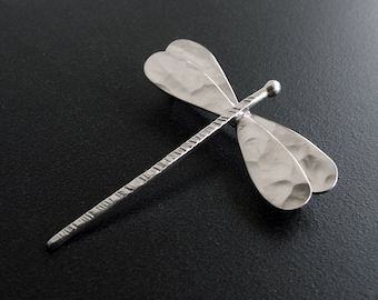 Dragonfly brooch pin jewelry, sterling silver broach, dragonfly broach, dragonfly jewelry, bridal brooch. wedding brooch, statement brooch