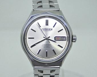 Rare Vintage Citizen LEOPARD SUPER BEAT 10 Japan automatic watch 70's
