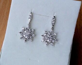 Bridal Jewelry Wedding Earrings Crystal Bridal Earrings Crystal Wedding Jewelry Vintage Wedding Diamond Earrings Art Bohemian Earrings Gifts