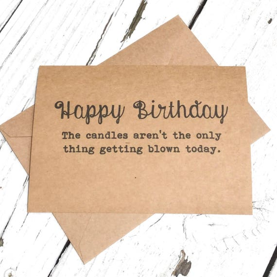 Happy birthday candles getting blown funny card naughty like this item bookmarktalkfo Choice Image