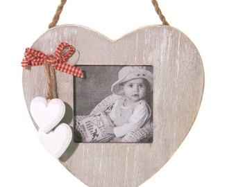 Hanging Photo Frame with Hearts - 7867