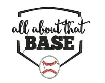 All About That Base Embroidery Design, Baseball Embroidery Design, sports embroidery design, boy Embroidery