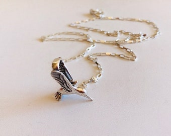 Hummingbird Necklace-Sterling Silver necklace