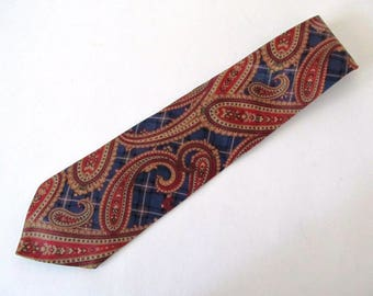 Tommy Hilfiger Imported Silk Paisley Tie, Necktie