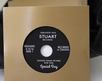 Gold CD Sleeve with Custom Vinyl styled blank CDs - SAMPLE