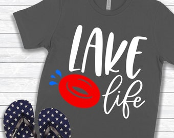 Lake Svg, Lake Life, Tubing, Summer, DXF, PNG, SVG, files for, Silhouette, Cricut, Cut files, Iron on tranfser, Vacation Svg, Sublimation