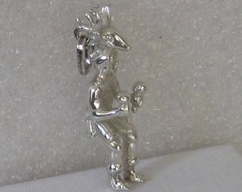 SALE Vintage Sterling Silver Dancing Deer Head Ceremonial Native American  Charm