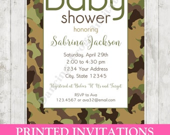 camo baby shower etsy